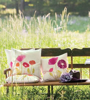 diy poppy pillows, diy gifts for mom