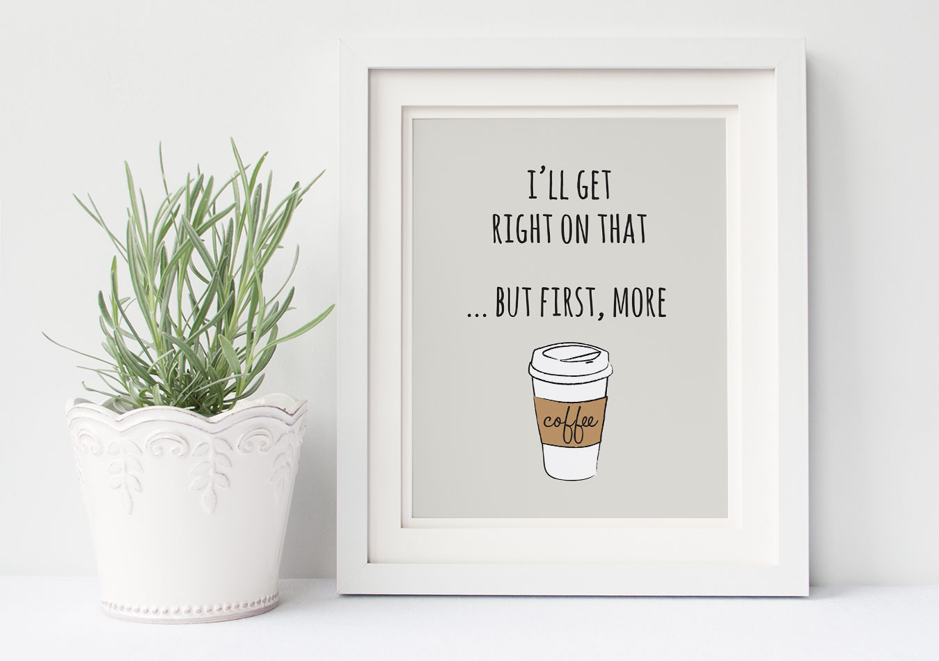 mother's day gift idea, printable artwork, coffee print, coffee art, coffee download