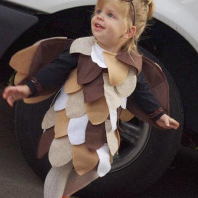 diy owl costume, diy halloween costume, owl costume, owl costume how to, toddler owl costume, kid owl costume, easy owl costume