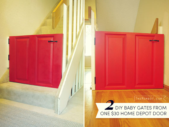 Diy Baby Gates From A Door Learn From My Mistakes The Mombot