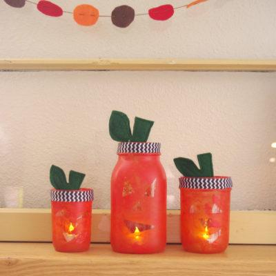 Pumpkin Mason Jar lights