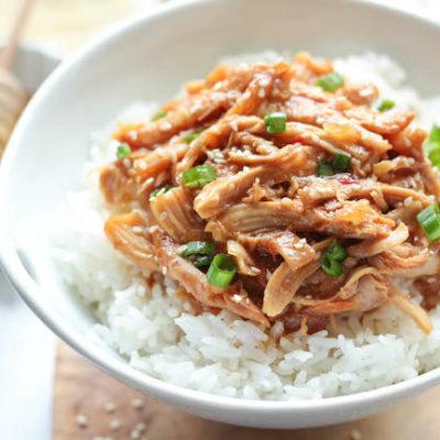 honey sesame chicken, asian food, slow cooker meal