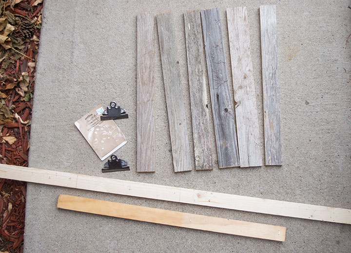 DIY reclaimed wood clipboard | TheMombot.com