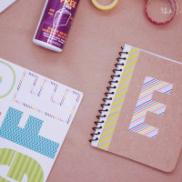 diy monogrammed notebooks | themombot.com