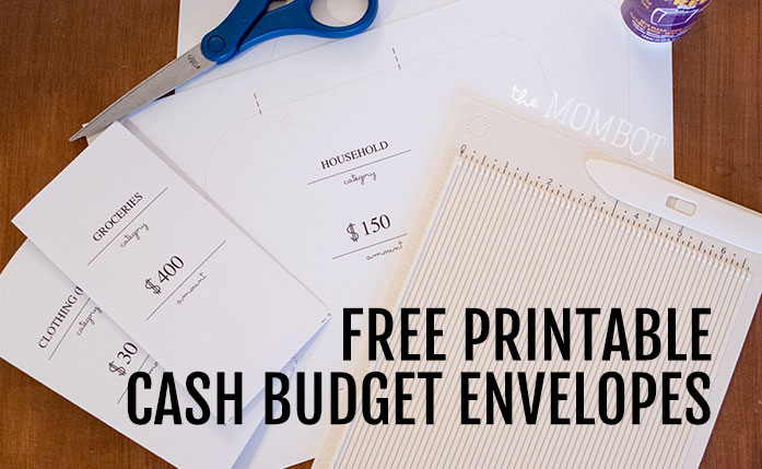 Free cash budget envelope printable | TheMombot.com