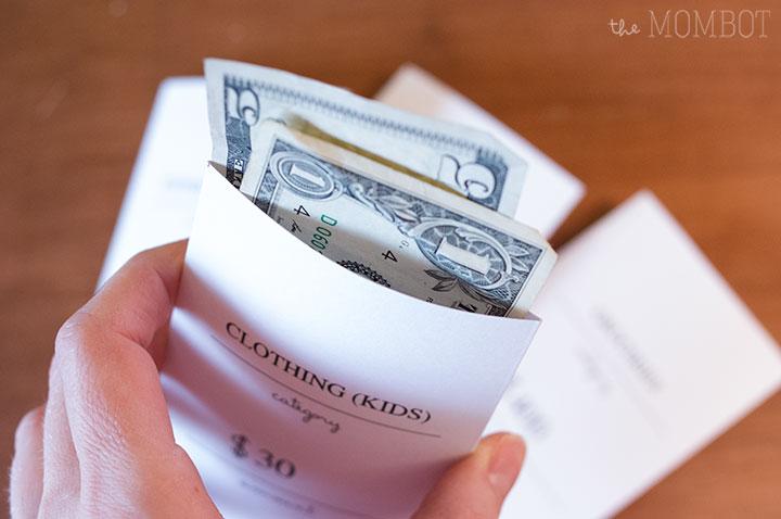 Free printable cash budget envelopes | TheMombot.com