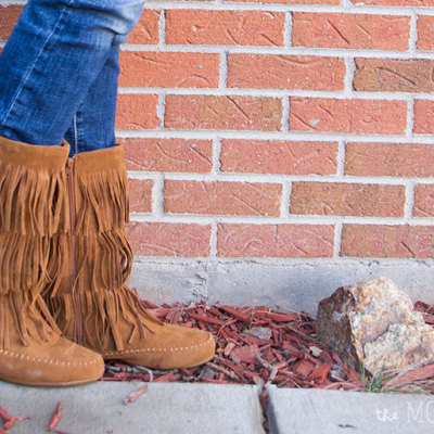 What I Wore Wednesday: Fringe boots | TheMombot.com