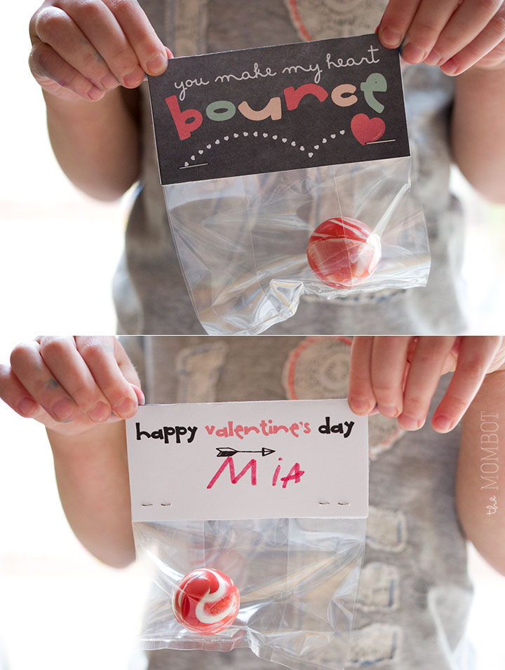 You Make My Heart Bounce, free valentine's day baggie toppers on themombot.com