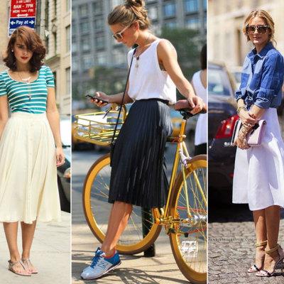 Midi skirts inspiration (winter-spring trend) on TheMombot.com