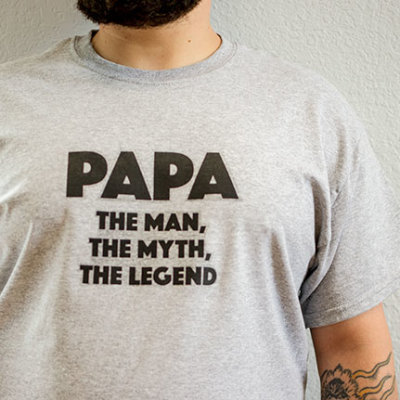DIY Papa Father's Day T-shirt Gift | TheMombot.com