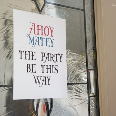"""Ahoy Matey"" sign for our Pirate Birthday Party 