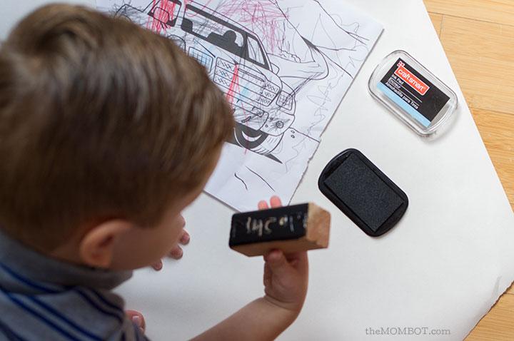 DIY kid's name stamp | TheMombot.com