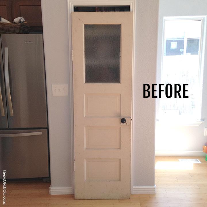 A vintage pantry door DIY | TheMombot.com - Vintage Pantry Door - The Mombot