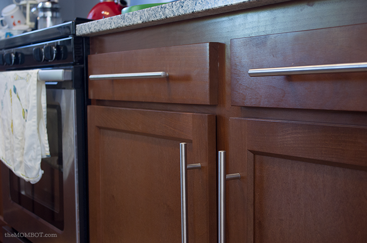 Upgrade kitchen cabinets with handles | TheMombot.com