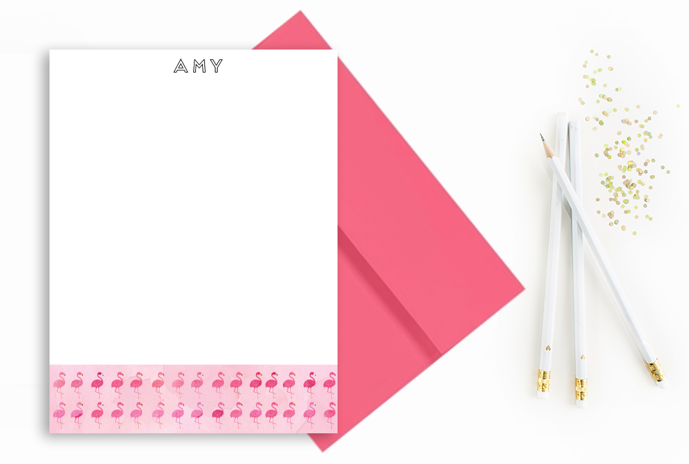 flamingos-initial-notecard-etsy