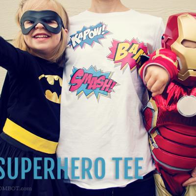 DIY Superhero T-shirt for Halloween | TheMombot.com