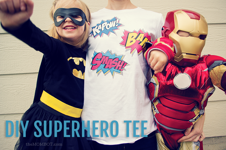 DIY Superhero T-shirt for Halloween | TheMombot.com