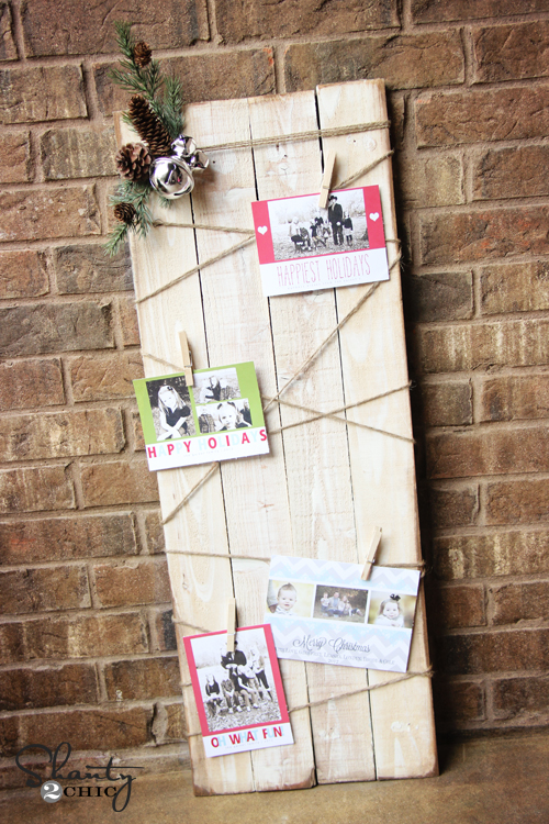 Christmas card display ideas, barnwood-christmas-card-display