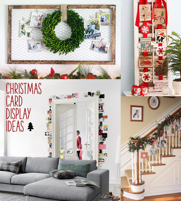 Christmas card display ideas on themombot.com