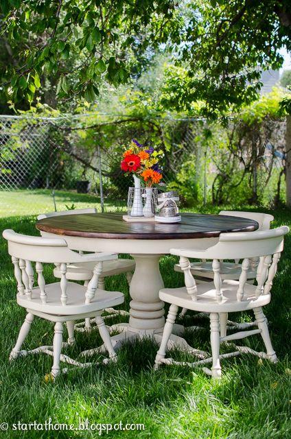 white-pedestal-table