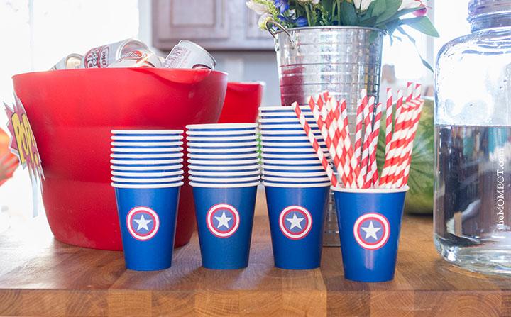 superhero-party-captain-america-cups