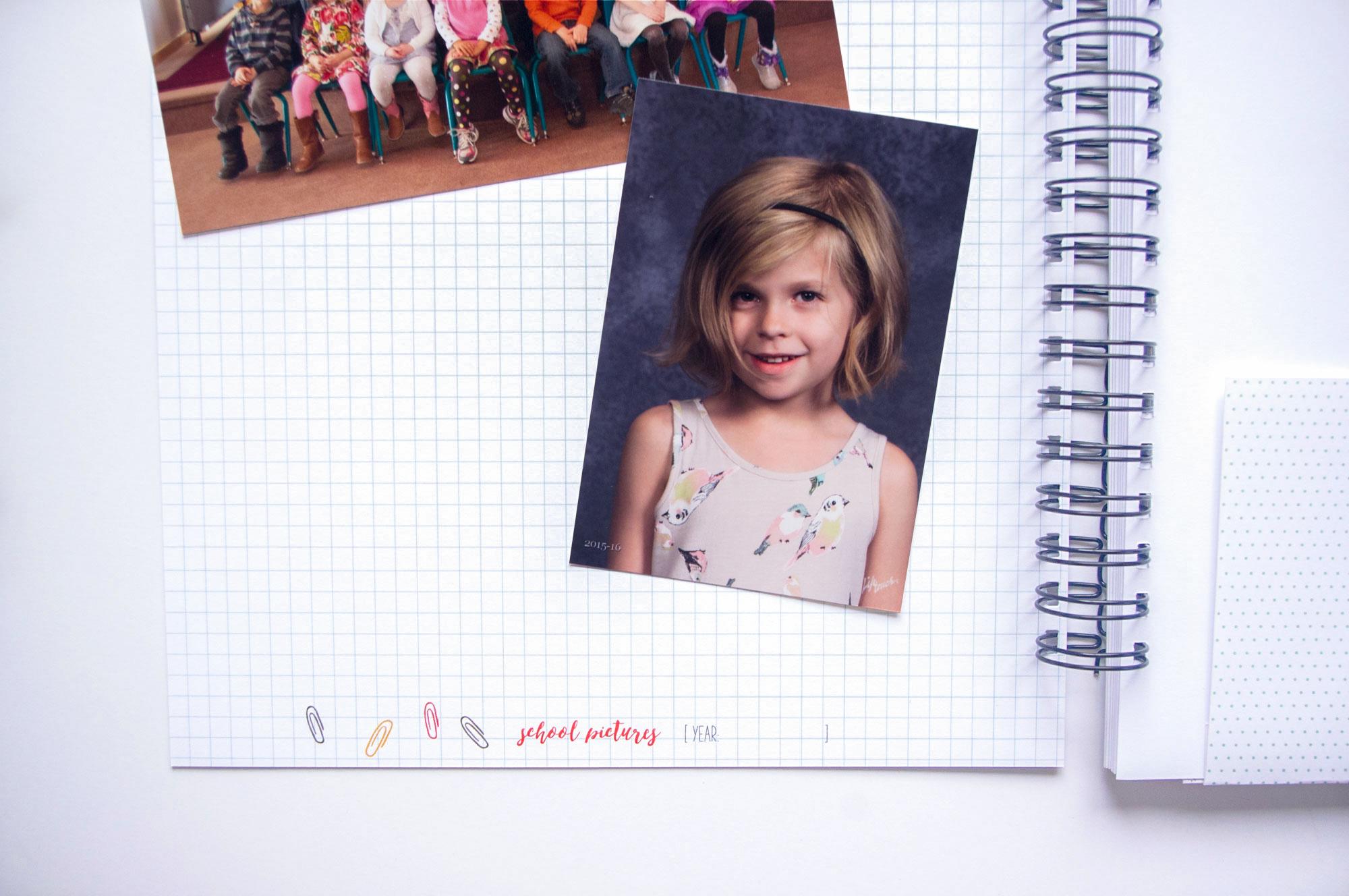 School Years Memory Book, Back to School, School Years Scrapbook, School Album, School Journal, Preschool through 12th Grade Book