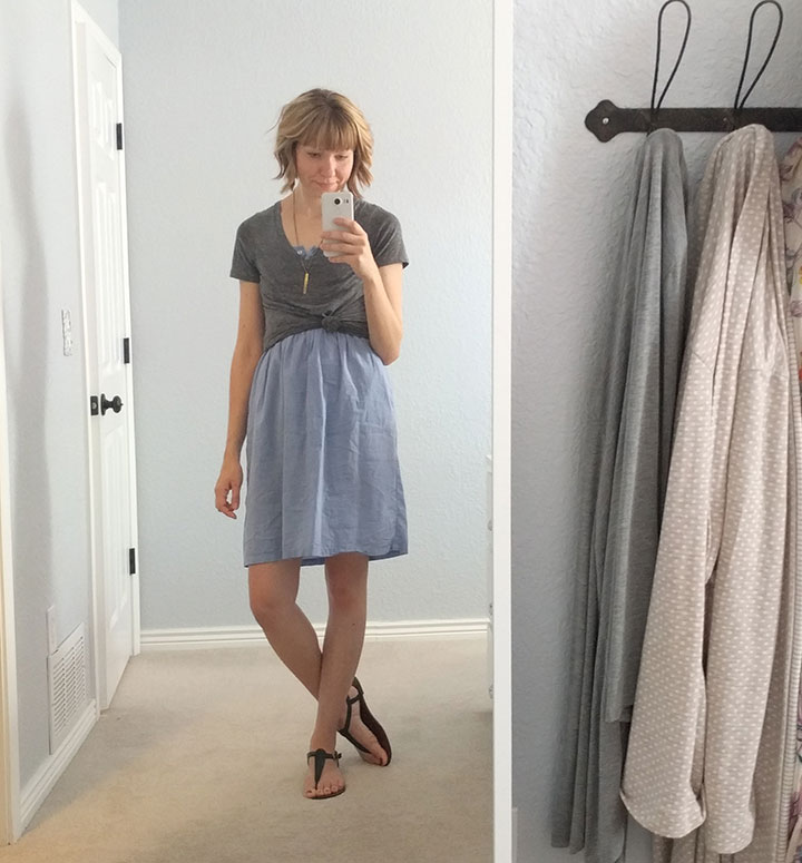 knotted-tee-over-dress