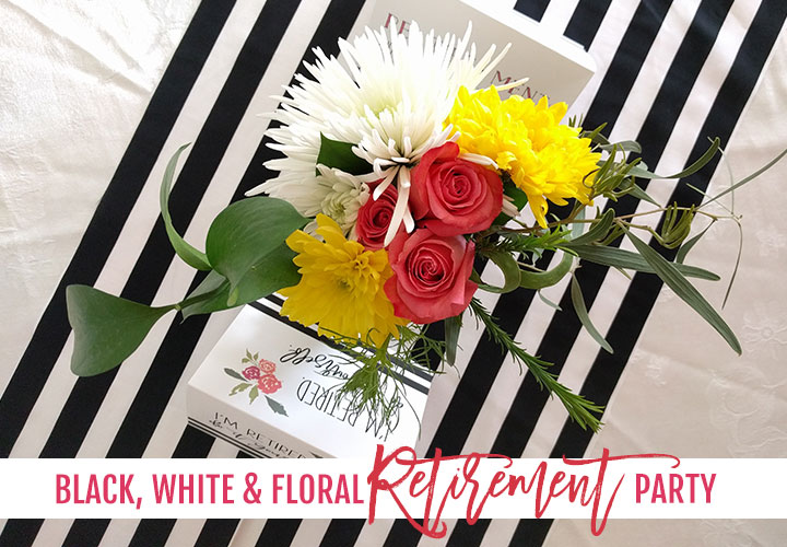 black-white-floral-retirement-party-header