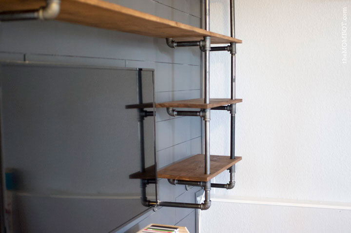 industrial pipe shelving unit fixer upper style fixer upper joanna gaines pipe