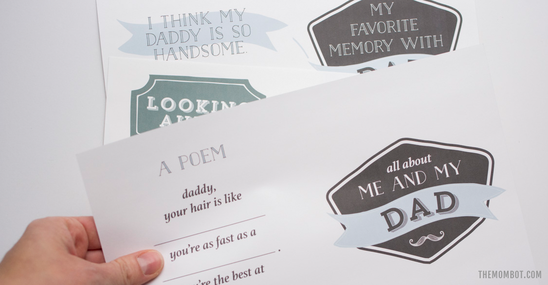 free father's day printable, free father's day booklet, father's day book, father's day freebie, father's day printable