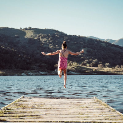 summer, lake, girl jumping in lake, summer kids