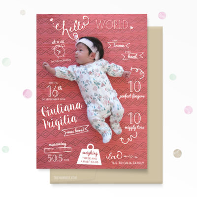 birth announcement, girl birth announcement, custom birth announcement, infographic birth announcement