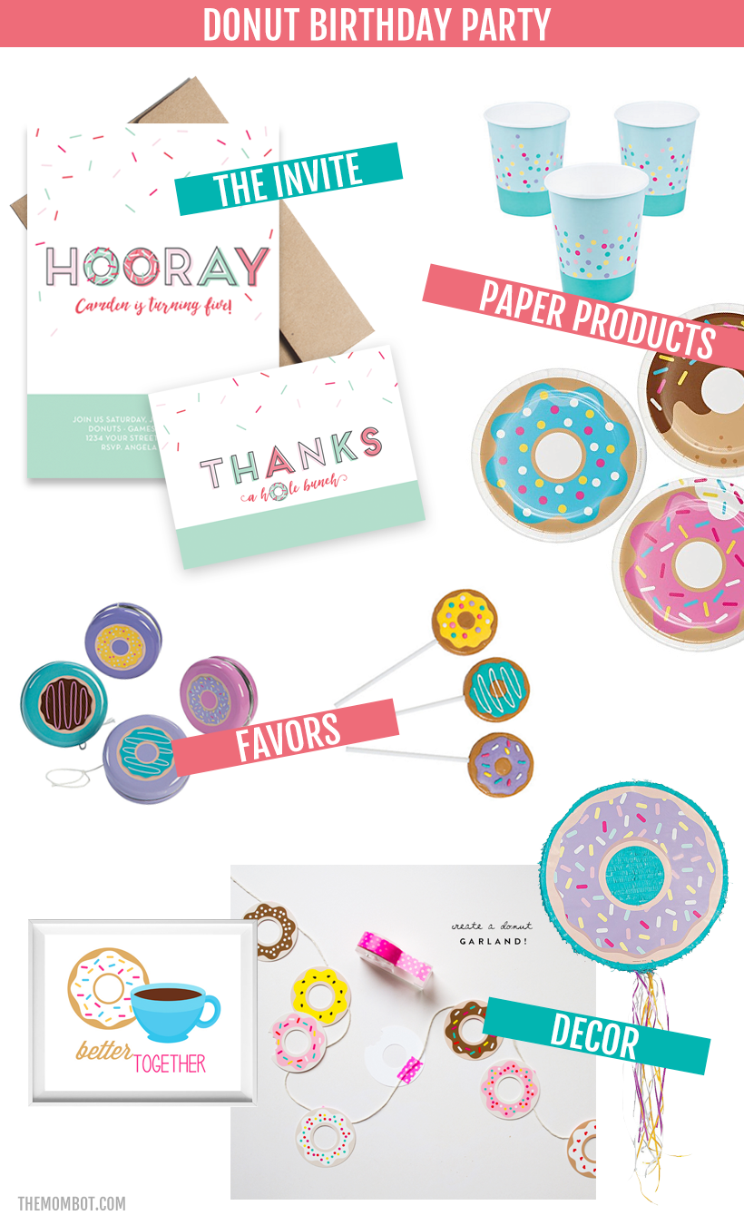 donut birthday party ideas, donut party, donut birthday, birthday party ideas