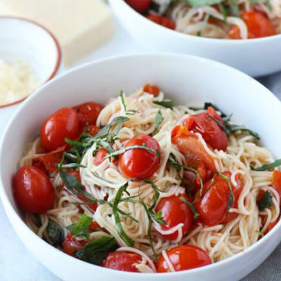 go-to dinner recipes, easy dinner recipes, quick dinner recipes, pasta recipes, 20 minute dinner, cherry tomato pasta
