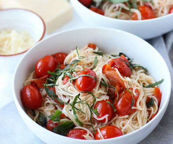 go-to dinner recipes, easy dinner recipes, quick dinner recipes, pasta recipes, 20 minute dinner, cherry tomato pasta