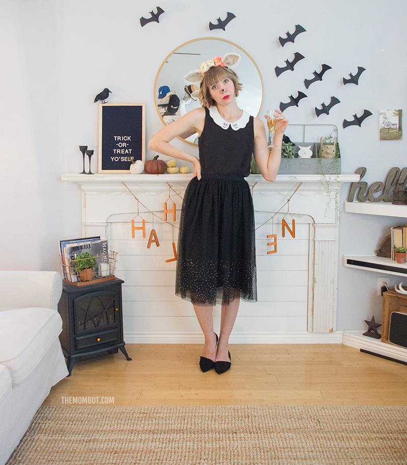 Party animal halloween costume, adult halloween costume, women's halloween costume, DIY halloween costume, animal makeup, animal costume makeup