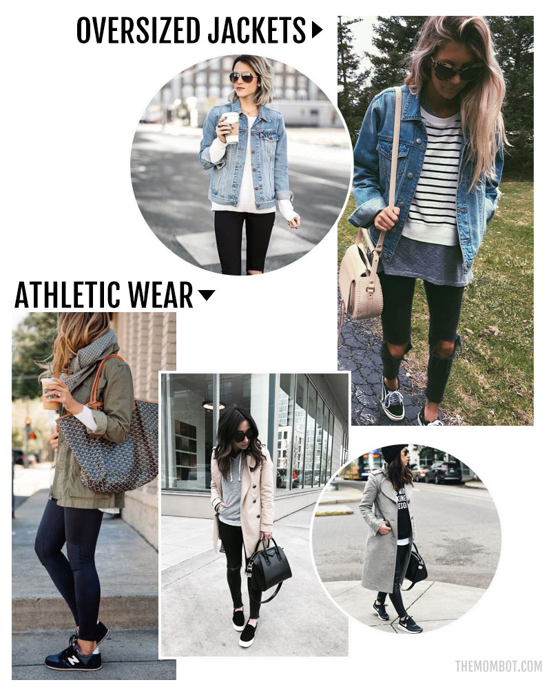 fall fashion trends 2017, fall fashion 2017, mom fashion 2017, athletic wear trends, oversize jacket trends