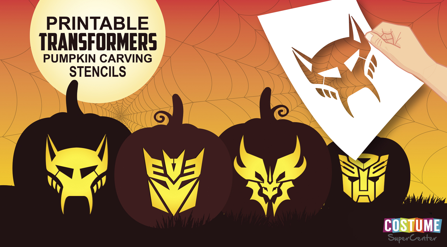 free pumpkin carving stencils your kids will love the mombot
