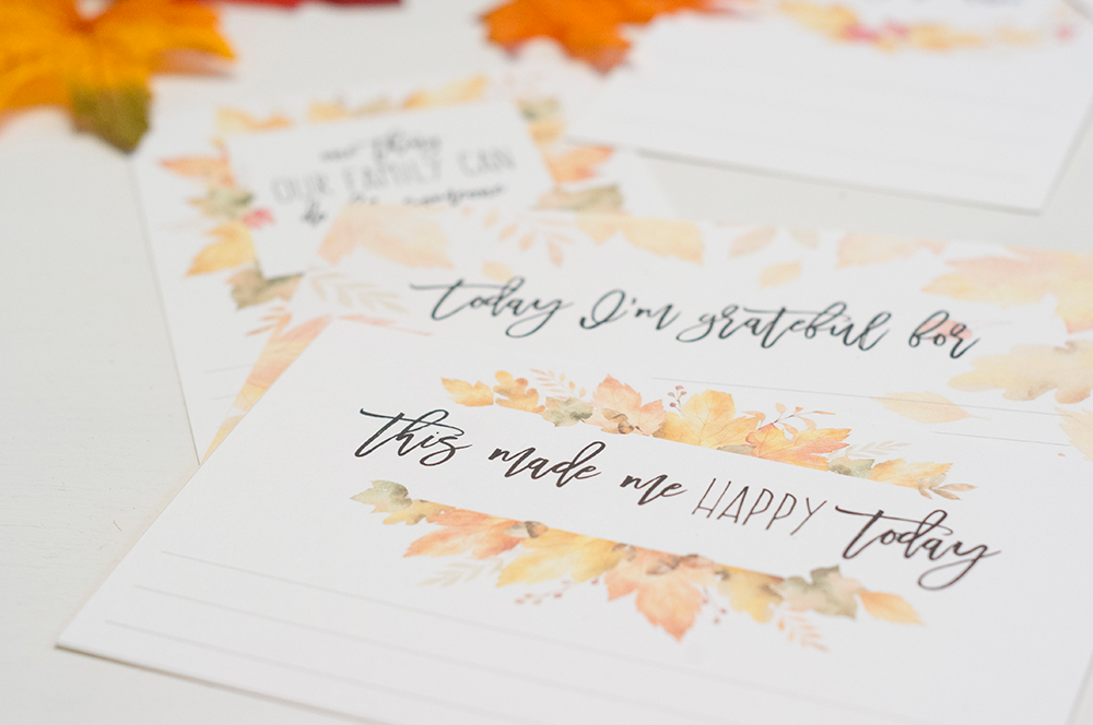 gratitude cards, free printable gratitude cards, blessings cards, count your blessings, november thanksgiving