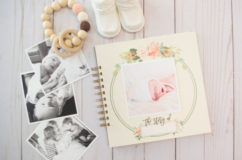 modern baby book, watercolor floral baby book, girl baby book, vintage floral baby book, vintage baby book, floral baby book, pink baby book, simple baby book, baby journal