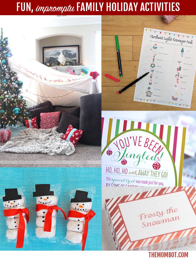 impromptu christmas fun, christmas activites, family christmas activities