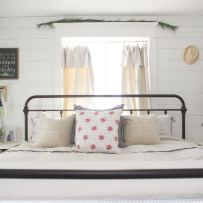 modern farmhouse bedroom, farmhouse bedroom, shiplap, shiplapped bedroom