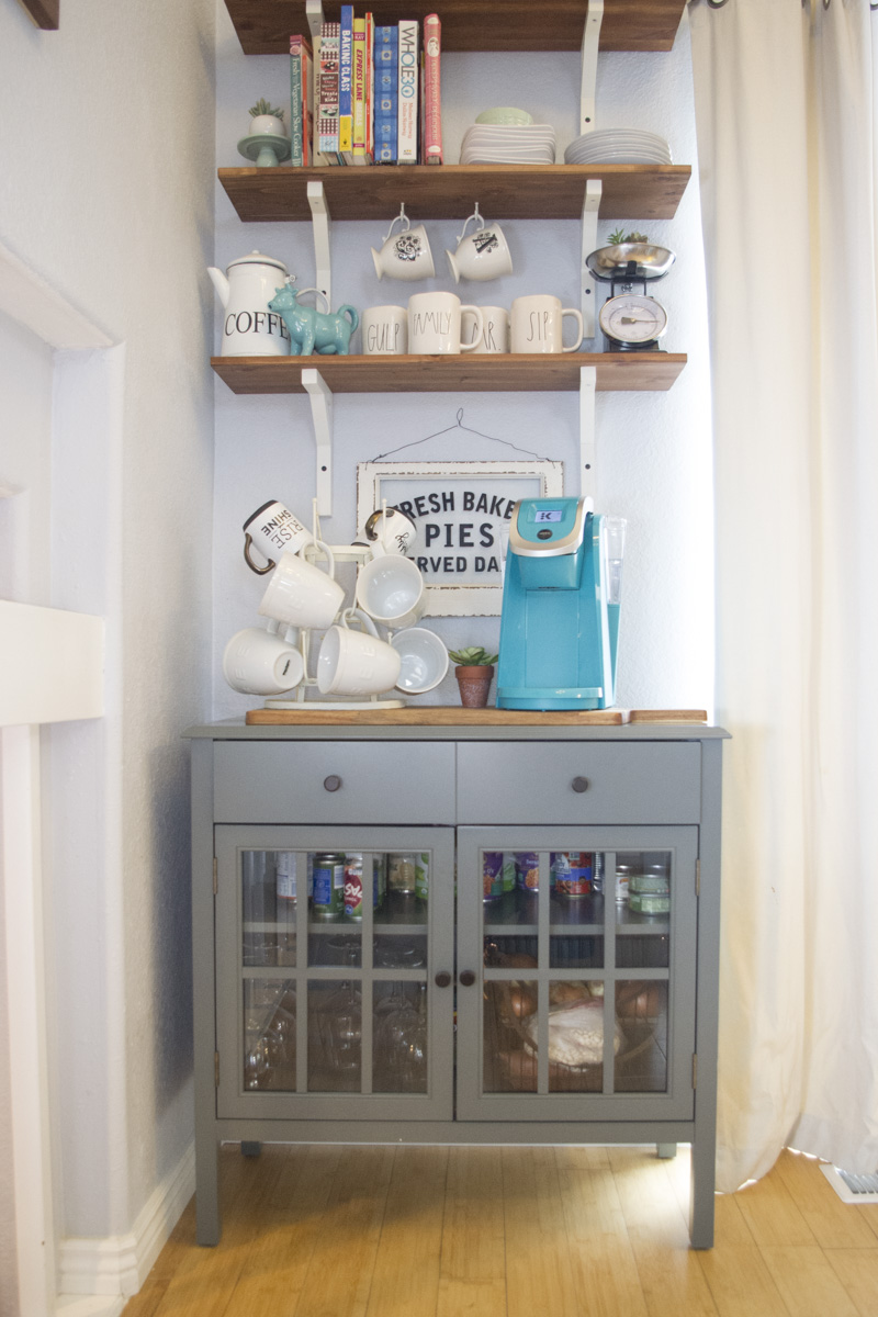 Diy Pantry Shelves With Counter