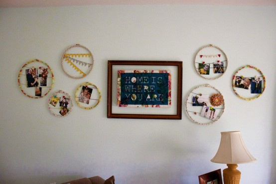 hanging photos without frames