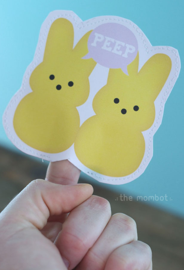 printable easter finger puppets | themombot.com