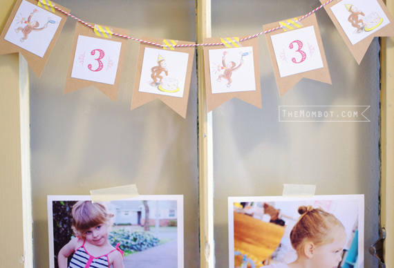 vintage curious george birthday party | TheMombot.com