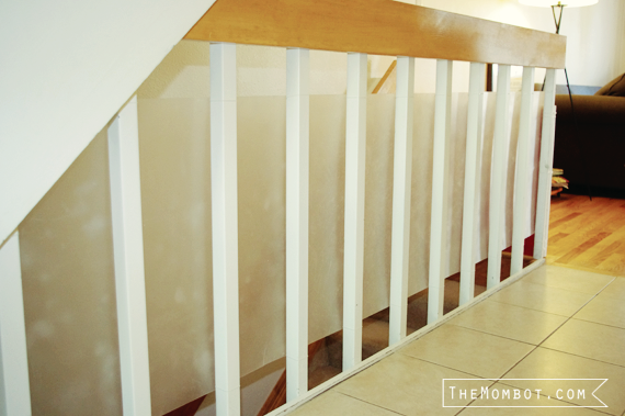 babyproofing staircase with plexiglass | themombot.com
