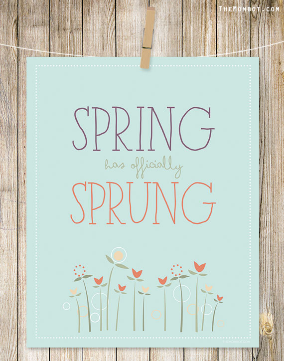 free spring printable art | TheMombot.com