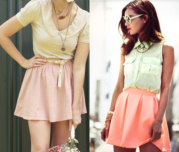 Wearing pastels for spring | TheMombot.com