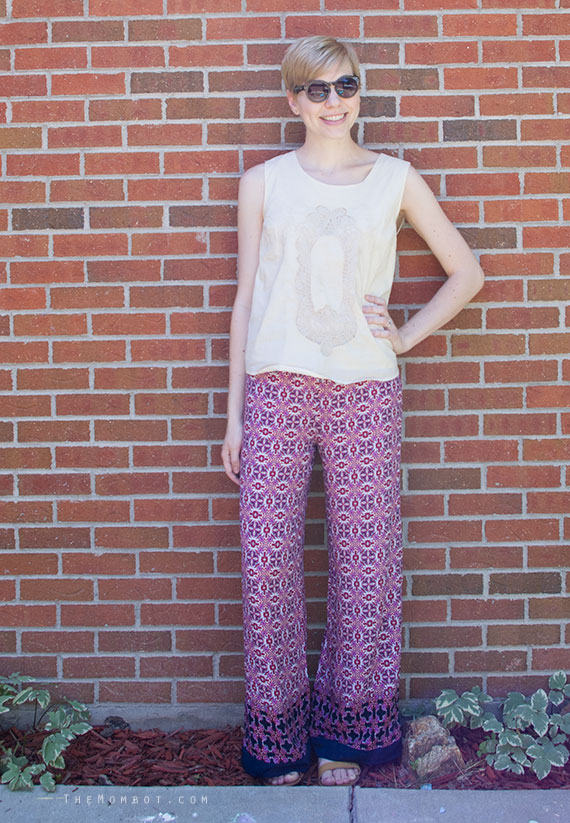 WIWW: Patterned fancy pants | TheMombot.com